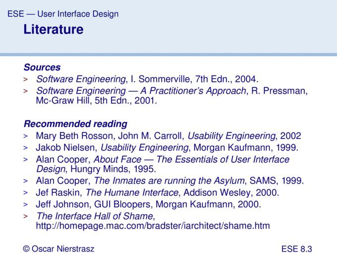 Introduction To Software Engineering 8 User Interface Design Pptx Powerpoint